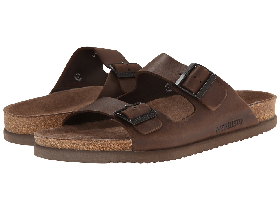 Mephisto - Nerio (Dark Brown Scratch) Men's Sandals