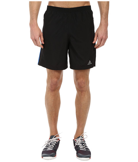 adidas - Response 7 Short (Black/Bright Royal) Men's Workout