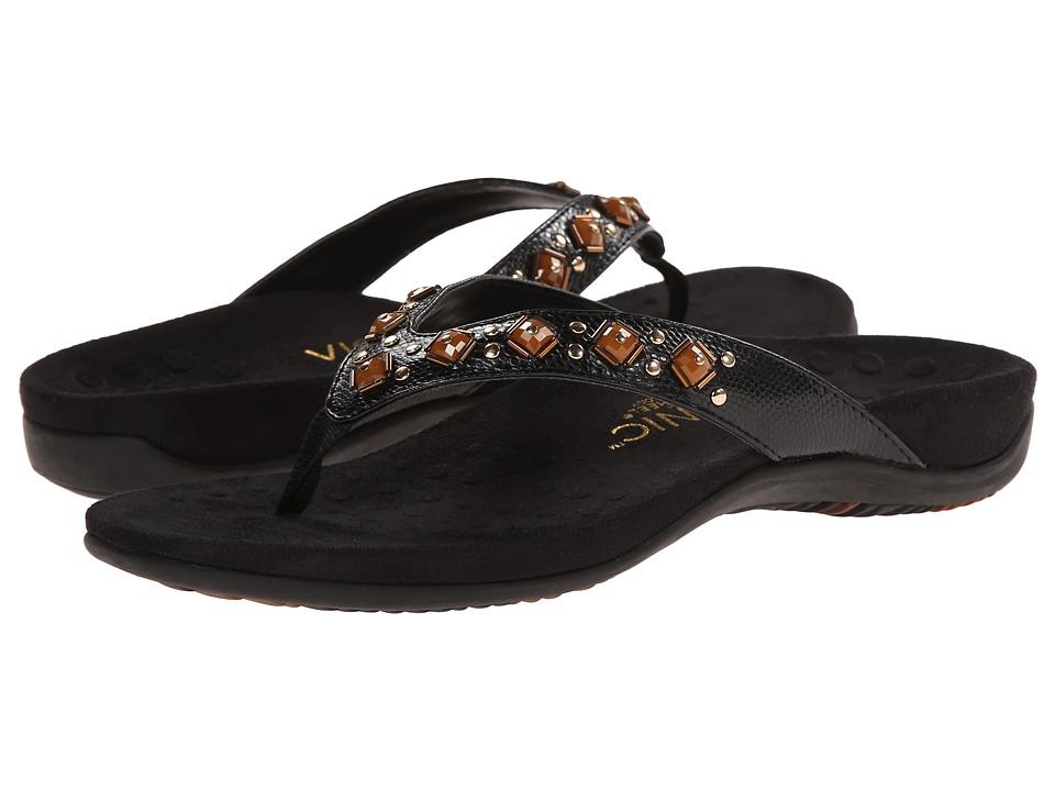 VIONIC - Floriana (Black Croco) Women's Sandals