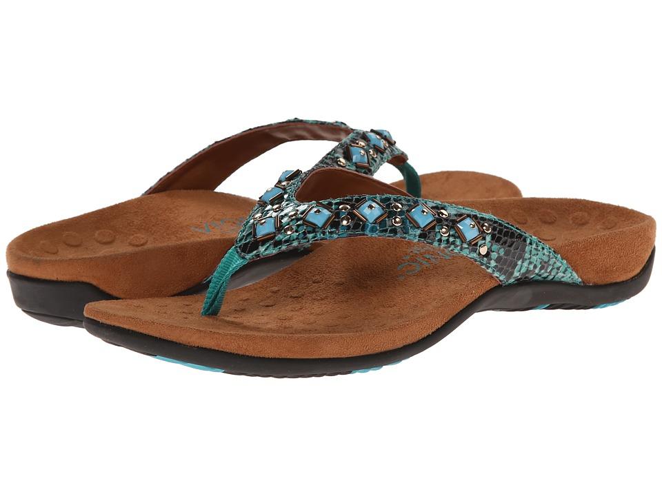 VIONIC - Floriana (Teal Snake) Women's Sandals