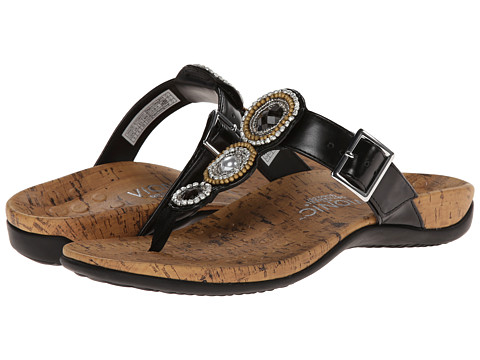 VIONIC with Orthaheel Technology - Adelie (Black) Women's Sandals