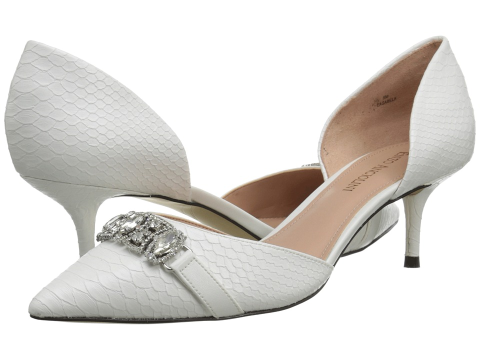 Enzo Angiolini - Gabela (White/White Synthetic) High Heels