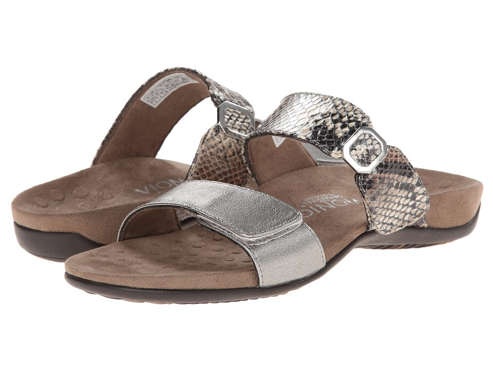 VIONIC - Camila (Pewter/Natural Snake) Women's Slide Shoes