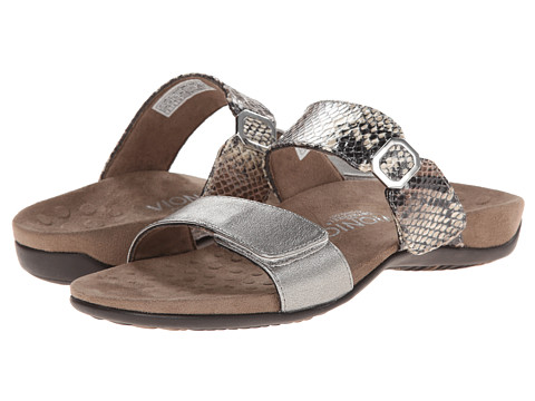 VIONIC with Orthaheel Technology - Camila (Pewter/Natural Snake) Women's Slide Shoes