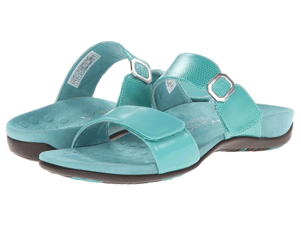 VIONIC - Camila (Turquoise/Turquoise Lizard) Women's Slide Shoes