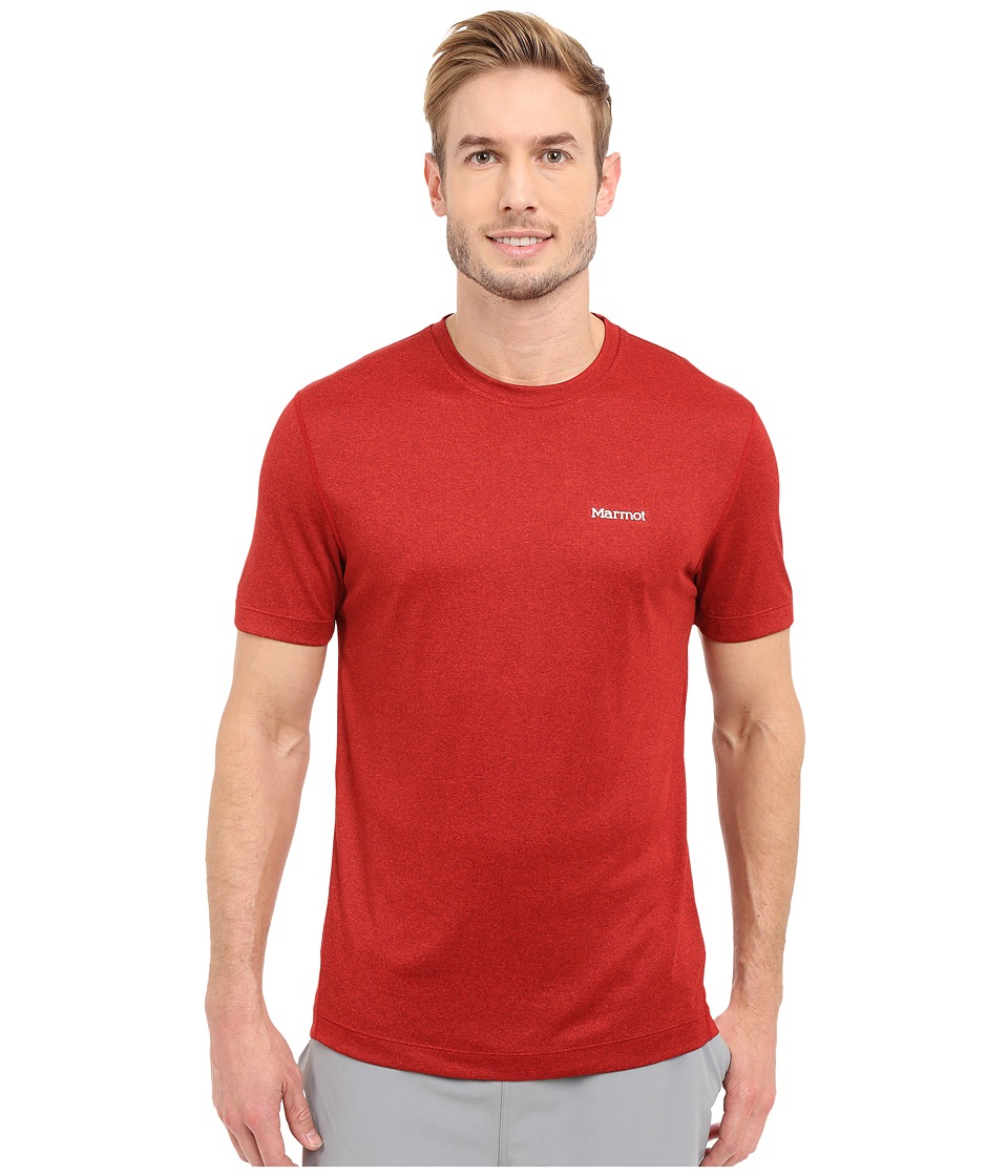 Marmot Conveyor S/S Tee (Team Red Heather) Men