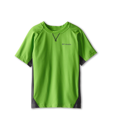 Columbia Kids - Silver Ridge Short Sleeve Tee (Little Kids/Big Kids) (Cyber Green/Grill) Boy