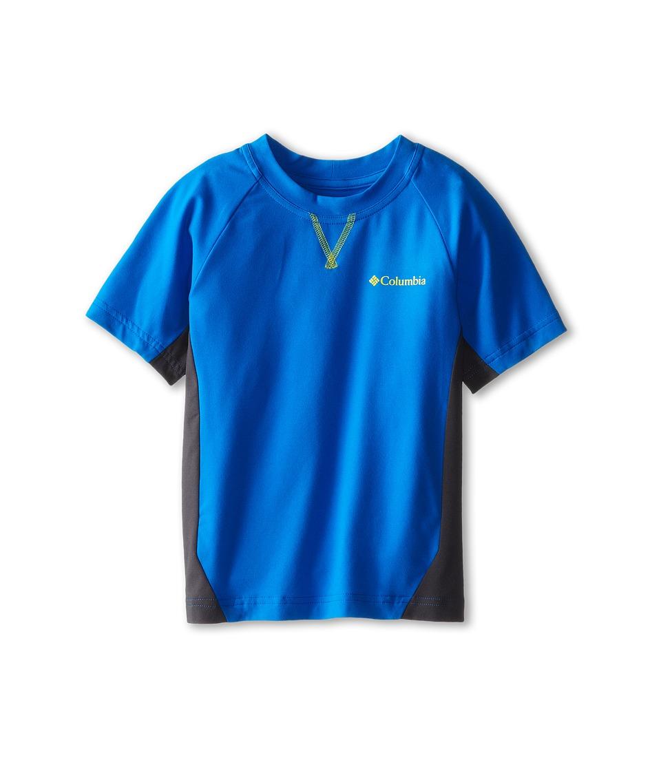 Columbia Kids - Silver Ridge Short Sleeve Tee (Little Kids/Big Kids) (Hyper Blue/Grill/Chartreuse) Boy