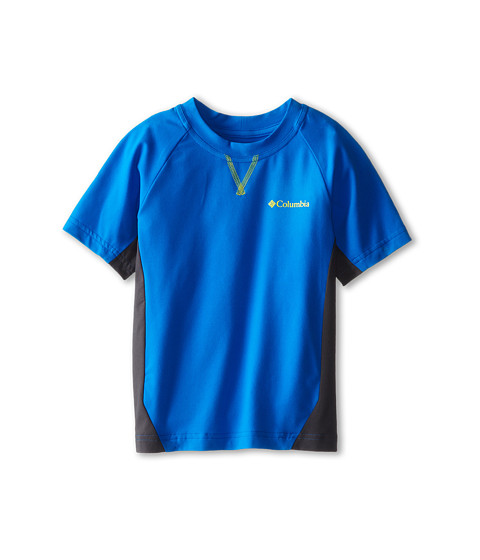 Columbia Kids - Silver Ridge Short Sleeve Tee (Little Kids/Big Kids) (Hyper Blue/Grill/Chartreuse) Boy's T Shirt