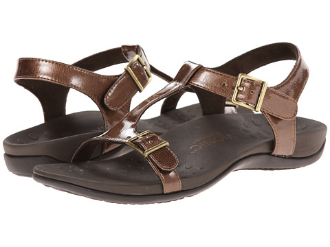 VIONIC with Orthaheel Technology - Adriane (Bronze) Women's Sandals