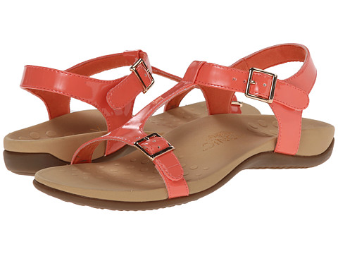 VIONIC with Orthaheel Technology - Adriane (Coral Patent) Women's Sandals