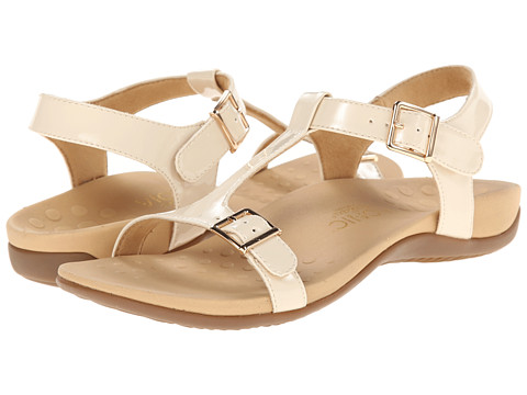 VIONIC with Orthaheel Technology - Adriane (Sand Patent) Women's Sandals