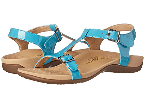 VIONIC with Orthaheel Technology - Adriane (Turquoise Patent) Women's Sandals