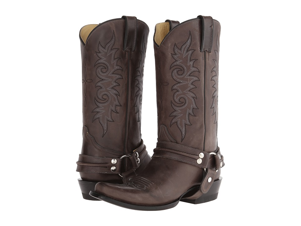 Stetson - Outlaw Harness Boot (Black) Cowboy Boots
