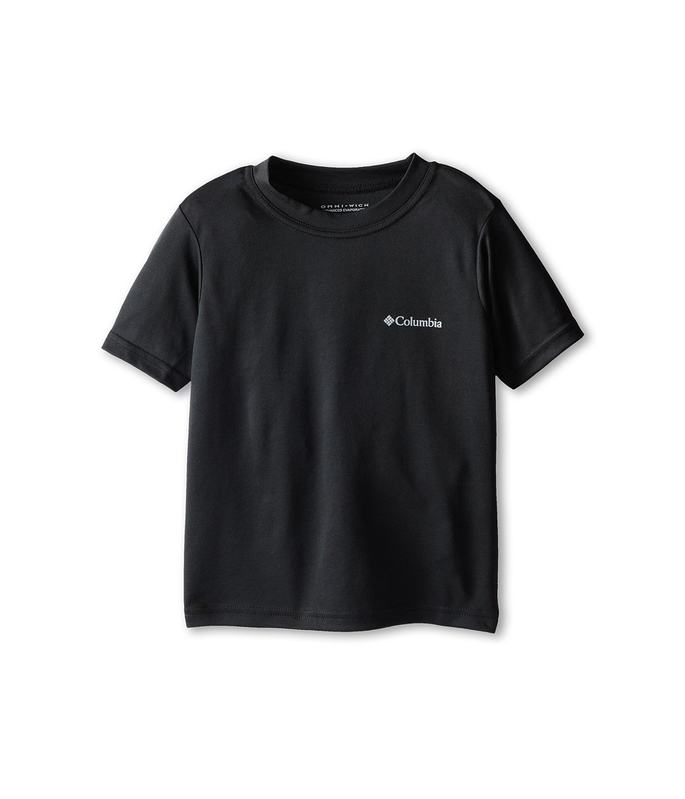 Columbia Kids - Meeker Peak II Short Sleeve Top (Little Kids/Big Kids) (Black) Boy's Short Sleeve Pullover