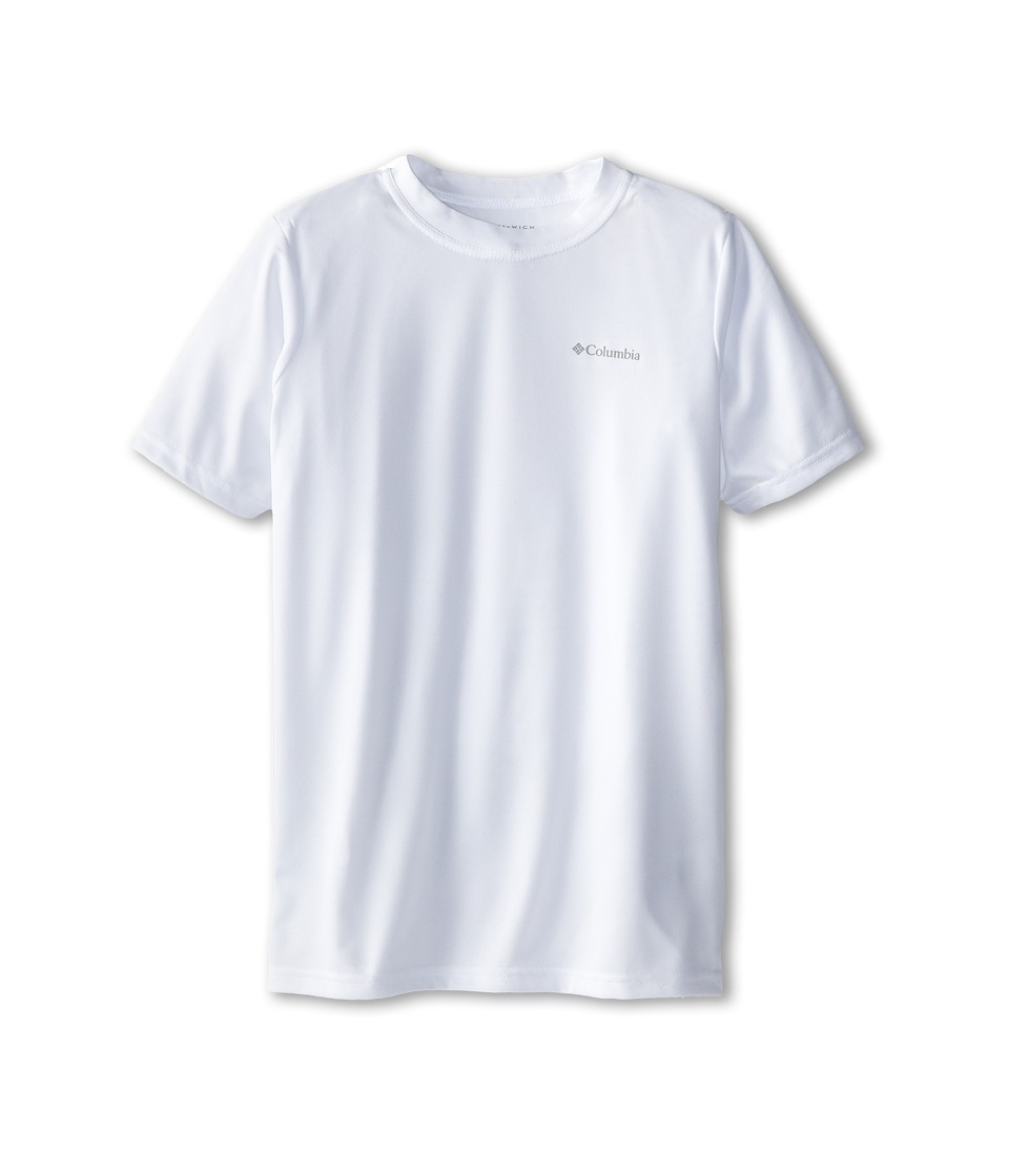 Columbia Kids - Meeker Peak II Short Sleeve Top (Little Kids/Big Kids) (White) Boy's Short Sleeve Pullover