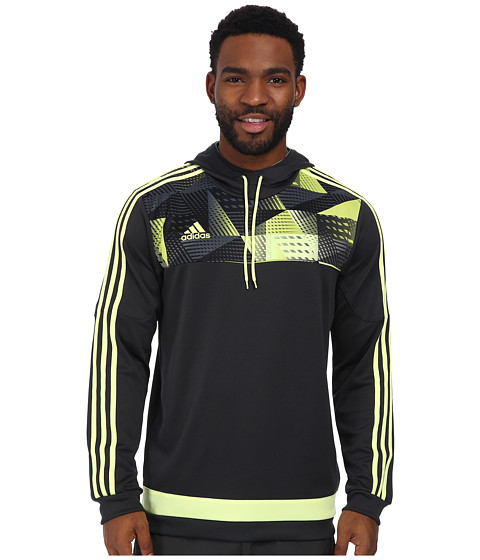 adidas - Tiro 15+ Graphic Hoodie (Dark Grey/Light Flash Yellow/Semi Solar Yellow) Men