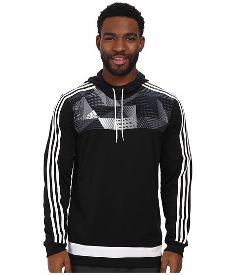 adidas - Tiro 15+ Graphic Hoodie (Black/White/Grey) Men