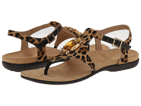 VIONIC with Orthaheel Technology - Tatiana (Tan Leopard) Women's Sandals
