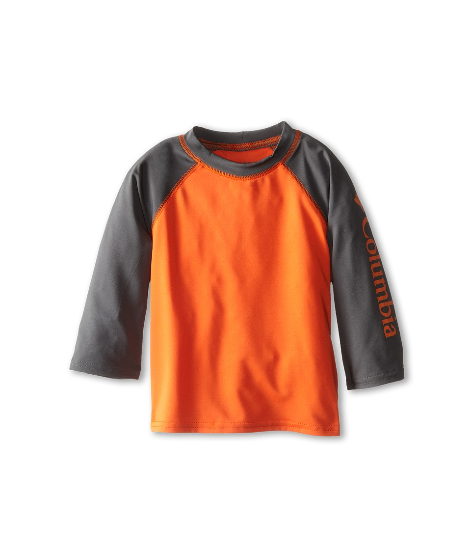 Columbia Kids - Mini Breaker II S/S Sunguard Top (Little Kids/Big Kids) (Tangy Orange/Grill) Boy's Long Sleeve Pullover