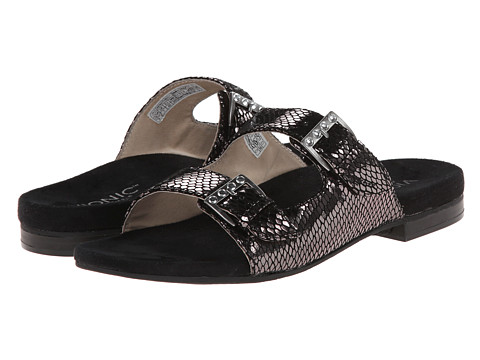 VIONIC with Orthaheel Technology - Czarina (Black Snake) Women's Slide Shoes