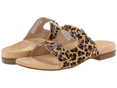VIONIC with Orthaheel Technology - Czarina (Tan Leopard) Women's Slide Shoes