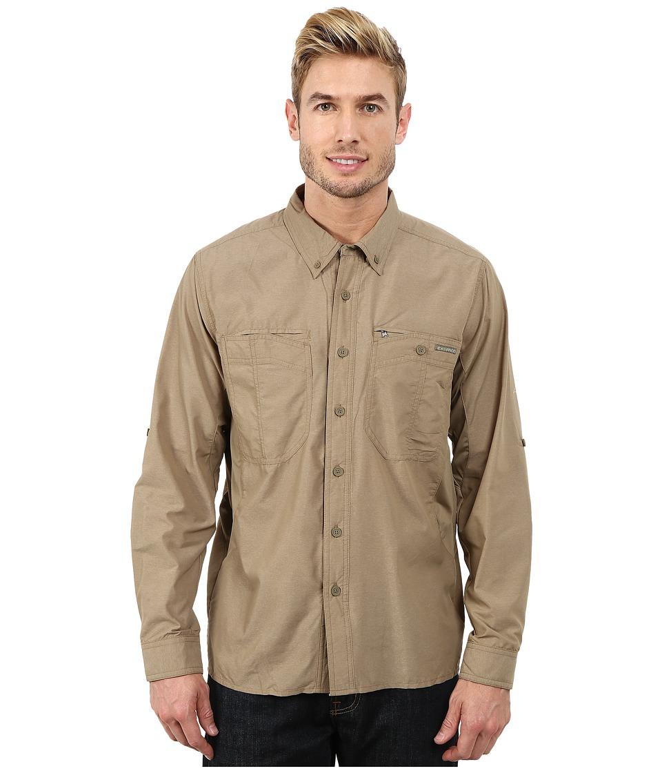 ExOfficio - TriFlex Hybrid Long Sleeve Top (Walnut/Walnut) Men