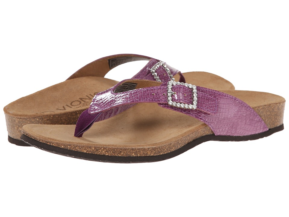 VIONIC - Isabeal (Purple Patent Snake) Women's Sandals
