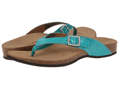 VIONIC with Orthaheel Technology - Isabeal (Teal Patent Snake) Women's Sandals