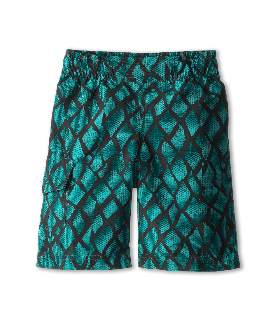 Columbia Kids - Solar Stream II Boardshort (Little Kids/Big Kids) (Grill Print) Boy's Swimwear