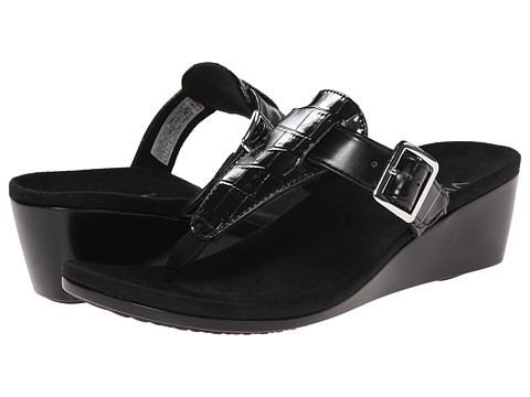 VIONIC with Orthaheel Technology - Alanis (Black) Women's Wedge Shoes