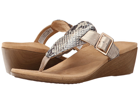 VIONIC with Orthaheel Technology - Alanis (Natural Snake) Women's Wedge Shoes