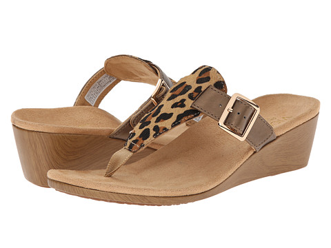 VIONIC with Orthaheel Technology - Alanis (Tan Leopard) Women's Wedge Shoes