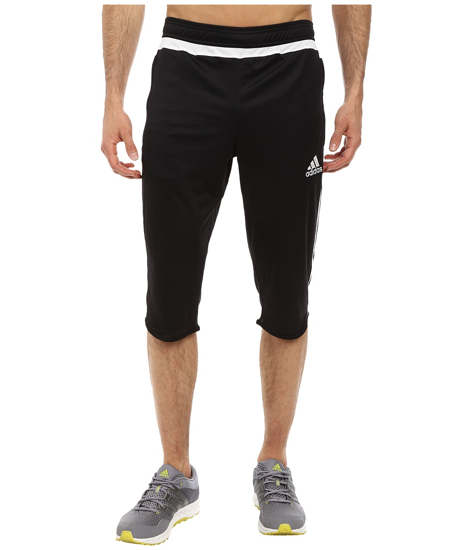 adidas - Tiro 15 Three-Quarter Pant (Black/White/Black) Men's Casual Pants