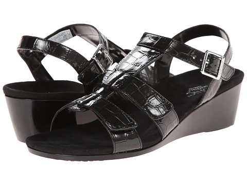VIONIC with Orthaheel Technology - Glenda (Black Croco) Women's Wedge Shoes