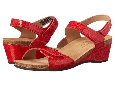 VIONIC with Orthaheel Technology - Natasa (Red Patent Snake) Women's Wedge Shoes