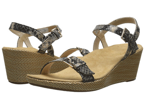 VIONIC with Orthaheel Technology - Enisa (Natural Snake) Women's Wedge Shoes