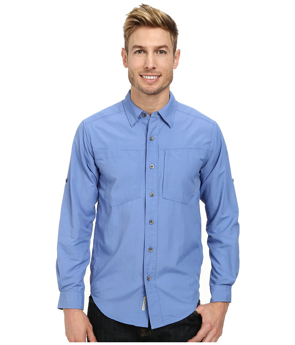 ExOfficio - GeoTrek'r L/S Top (Cayman) Men's Long Sleeve Button Up
