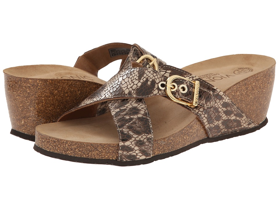 VIONIC - Danette (Natural Snake) Women's Wedge Shoes