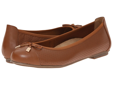 VIONIC with Orthaheel Technology - Allora Perf (Tan) Women's Flat Shoes