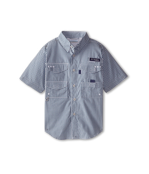 Columbia Kids - Super Bonehead S/S Shirt (Little Kids/Big Kids) (Blue Heron Gingham) Boy
