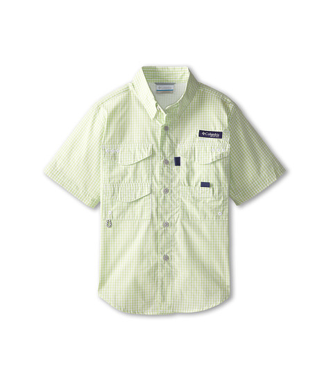 Columbia Kids - Super Bonehead S/S Shirt (Little Kids/Big Kids) (Key West Gingham) Boy
