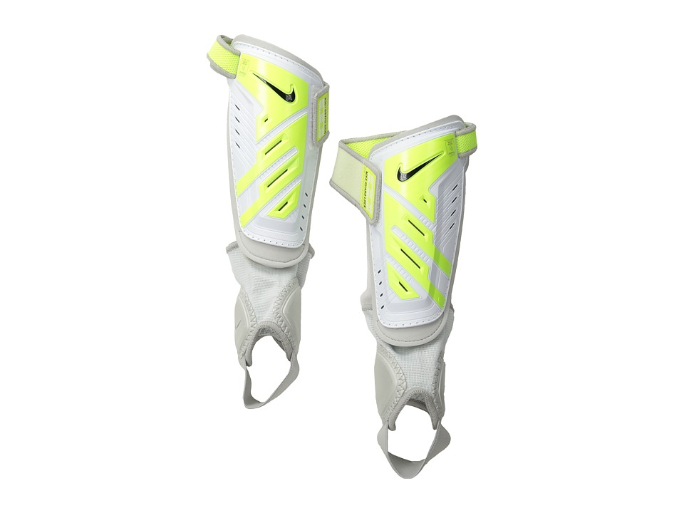 Nike - Protegga Shield (Big Kids) (White/Volt/Black) Athletic Sports Equipment