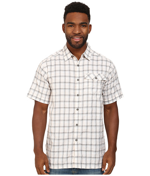 ExOfficio - Quadrant Plaid S/S Top (White) Men's Short Sleeve Button Up
