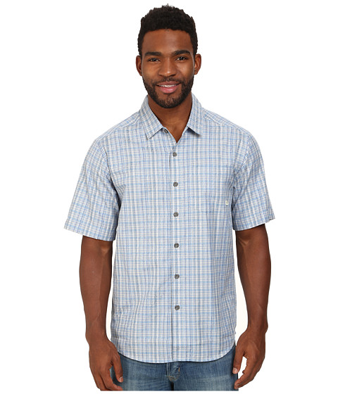 ExOfficio - Mundi Jacquard S/S Top (Malibu) Men's Short Sleeve Button Up