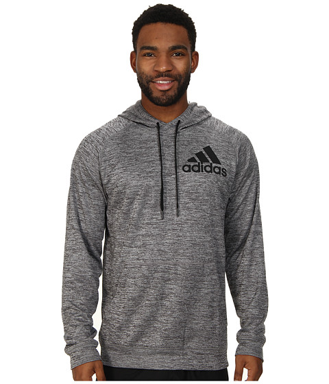 adidas - Team Issue Pullover Hoodie (Dark Grey Heather/Dark Grey Heather) Men's Sweatshirt
