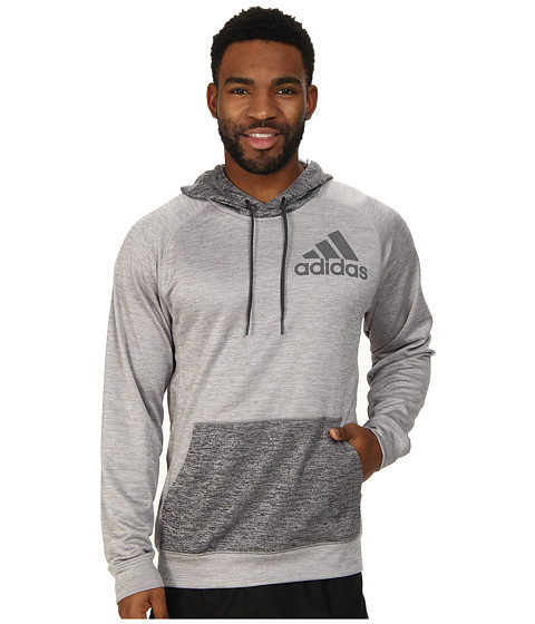 adidas - Team Issue Pullover Hoodie (Medium Grey Heather/Dark Grey Heather) Men's Sweatshirt