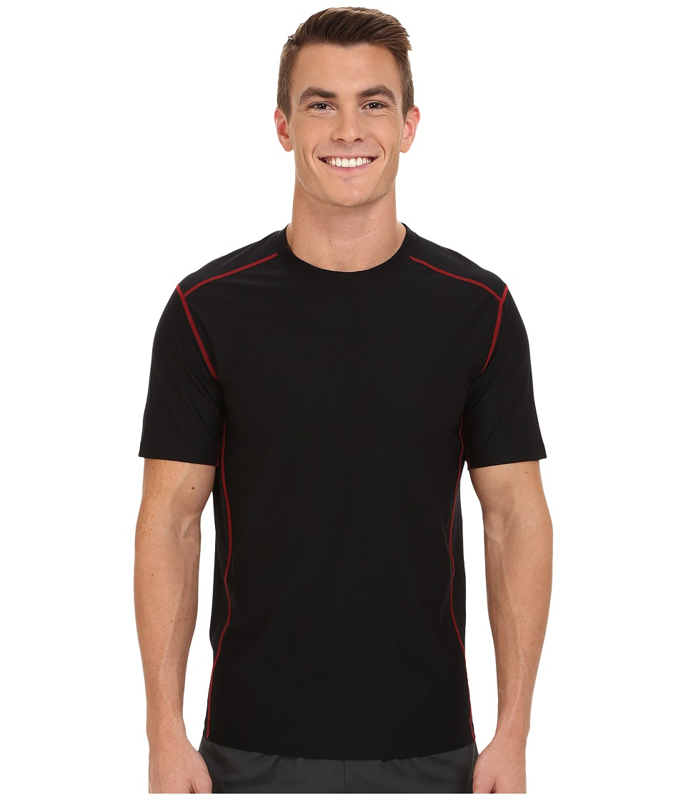ExOfficio - Give-N-Go Sport Mesh Crew (Black) Men's Short Sleeve Pullover