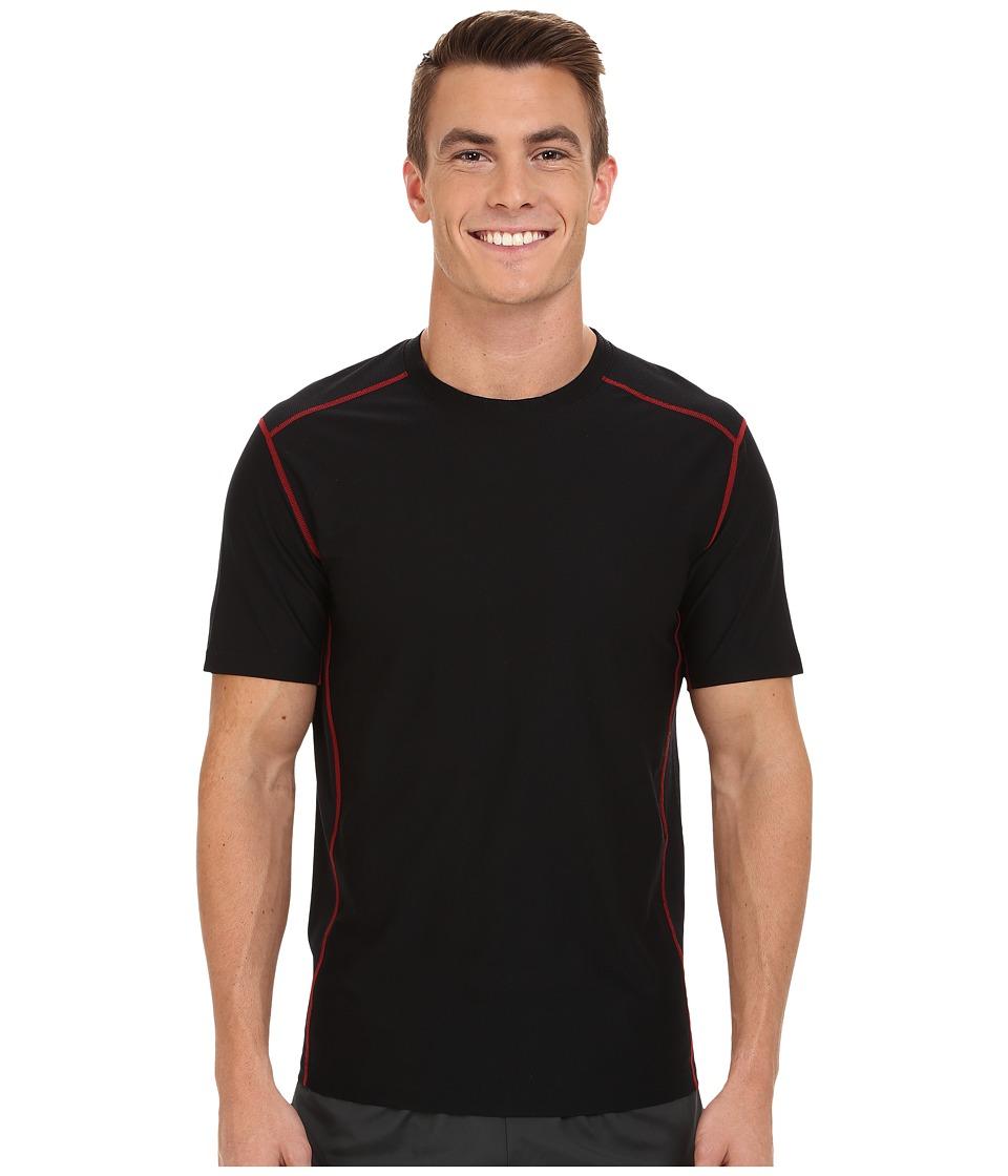 ExOfficio - Give-N-Go Sport Mesh Crew (Black) Men's Short Sleeve Pullover