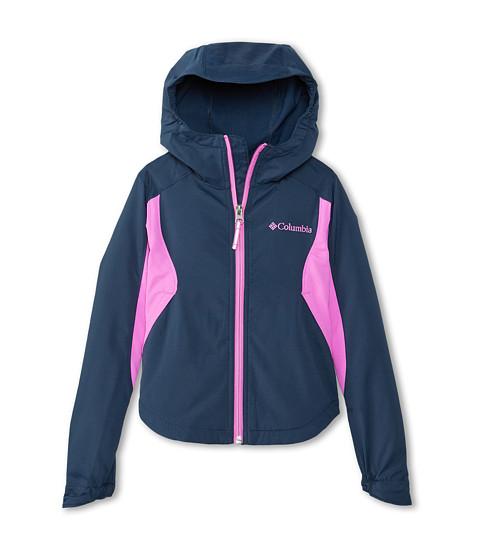 Columbia Kids - Splash Flash II Hooded Softshell Jacket (Little Kids/Big Kids) (Collegiate Navy/Foxglove) Girl